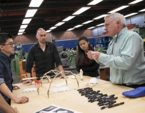 Dr. Jeffrey Smith with industrial design students